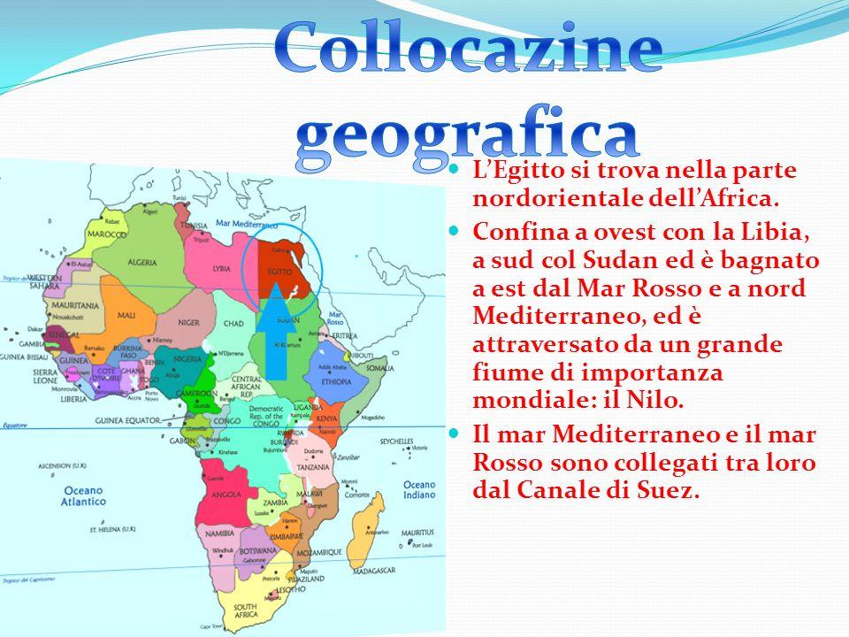 LEgitto si trova nella parte nordorientale dellAfrica.