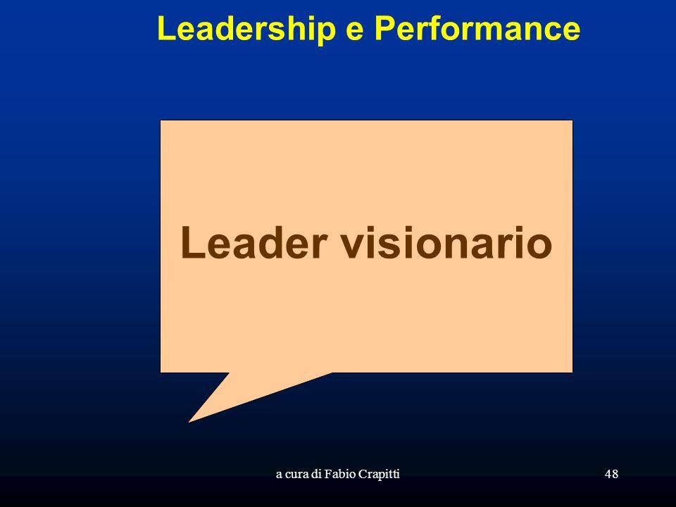 a cura di Fabio Crapitti48 Leadership e Performance Leader visionario