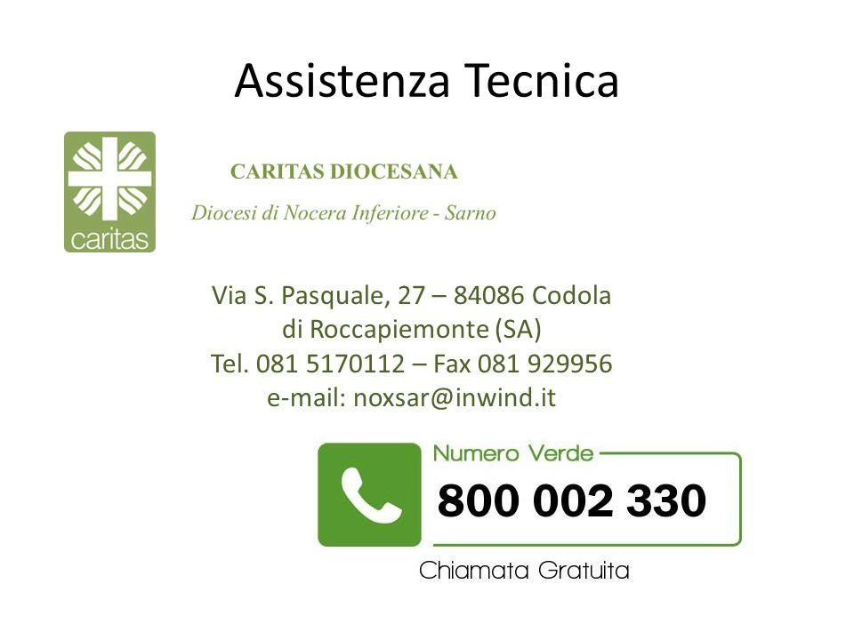 Assistenza Tecnica Via S. Pasquale, 27 – 84086 Codola di Roccapiemonte (SA) Tel. 081 5170112 – Fax 081 929956 e-mail: noxsar@inwind.it