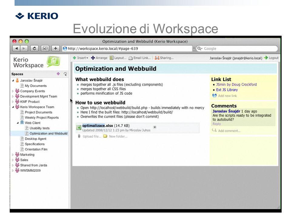 Evoluzione di Workspace