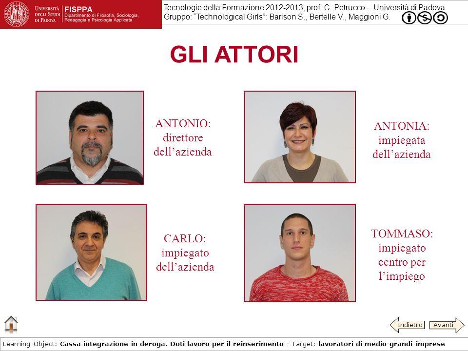 Tecnologie della Formazione 2012-2013, prof.C.