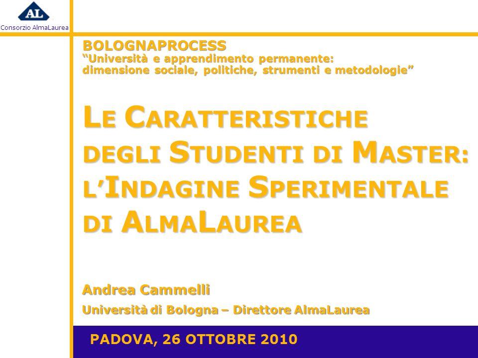 Consorzio AlmaLaurea S ODDISFAZIONE DEI D IPLOMANDI 2009 AL T ERMINE DEL M ASTER
