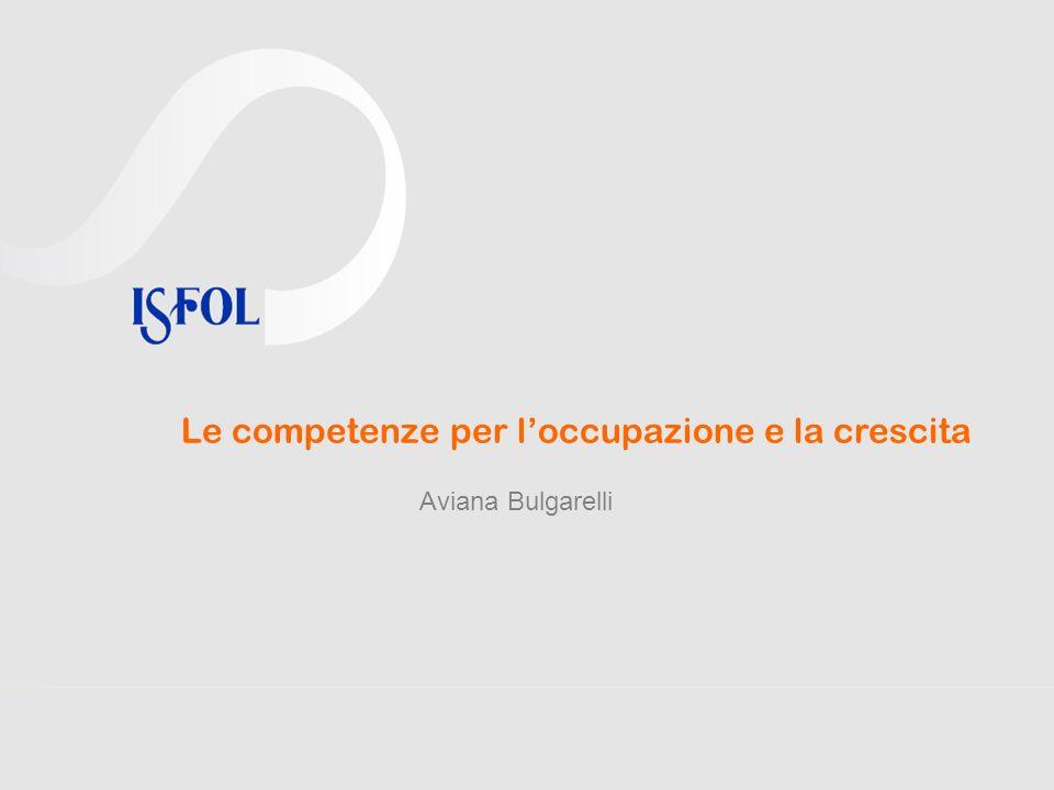 Le competenze per loccupazione e la crescita Aviana Bulgarelli