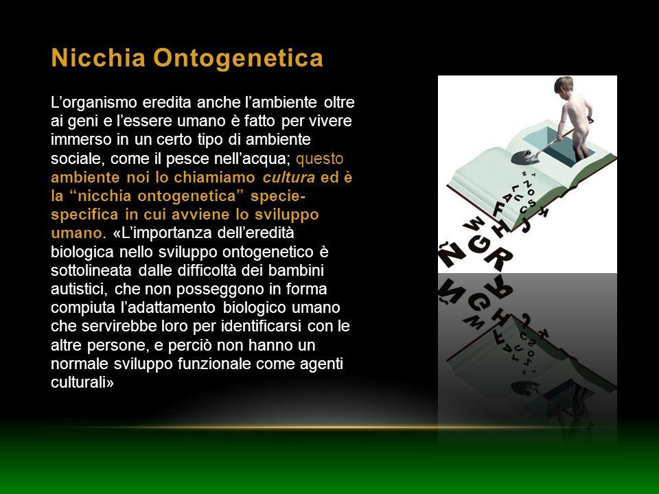 Nicchia Ontogenetica Lorganismo eredita anche lambiente oltre ai geni e lessere umano è fatto per vivere immerso in un certo tipo di ambiente sociale,
