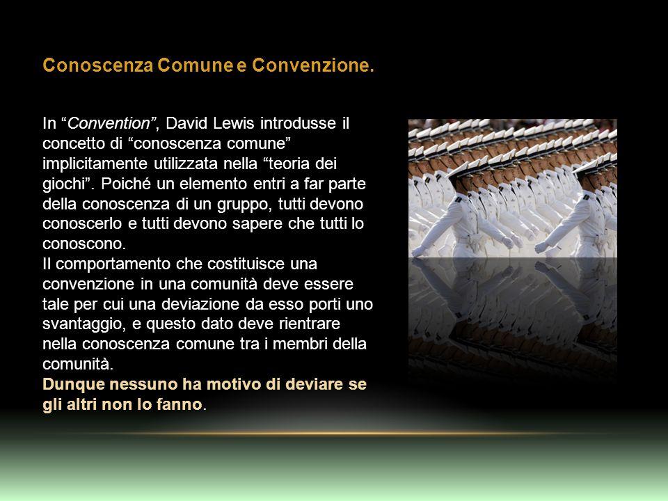 Conoscenza Comune e Convenzione. In Convention, David Lewis introdusse il concetto di conoscenza comune implicitamente utilizzata nella teoria dei gio
