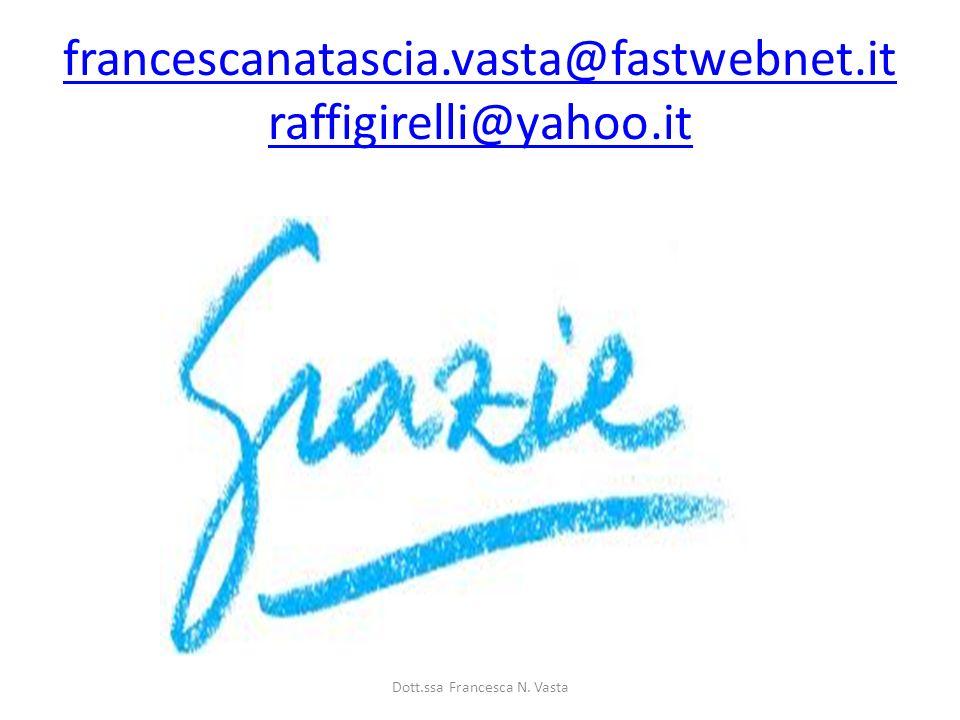 francescanatascia.vasta@fastwebnet.it raffigirelli@yahoo.it Dott.ssa Francesca N. Vasta