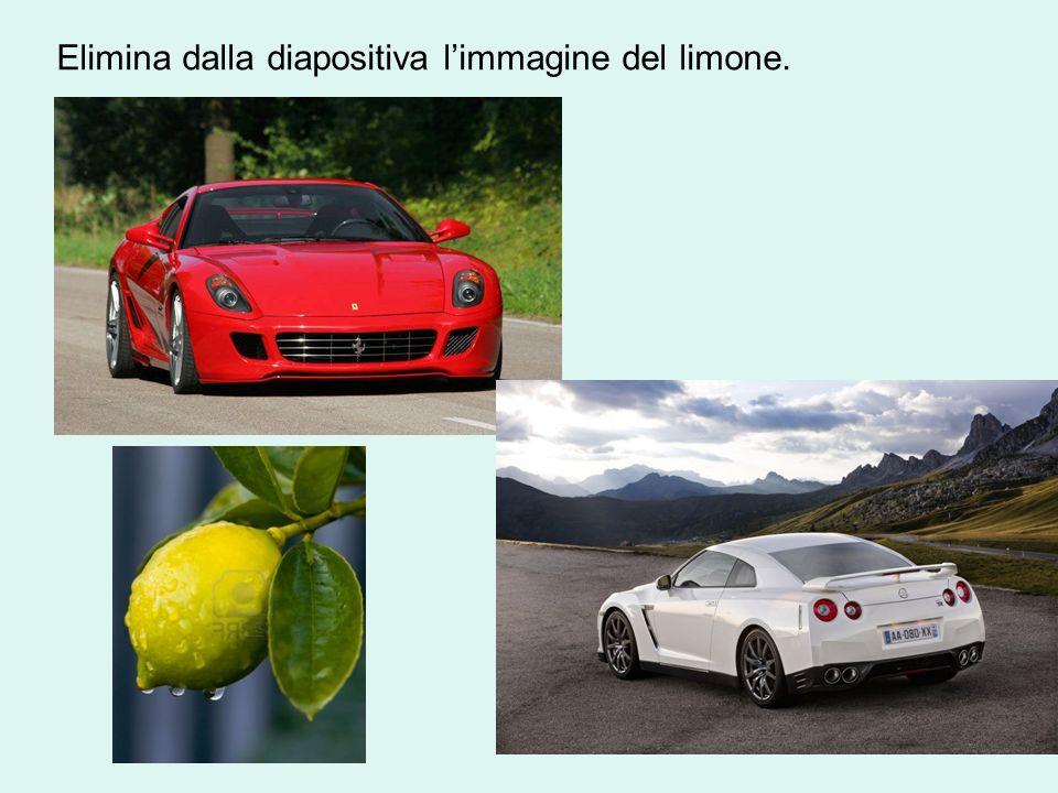Elimina dalla diapositiva limmagine del limone.