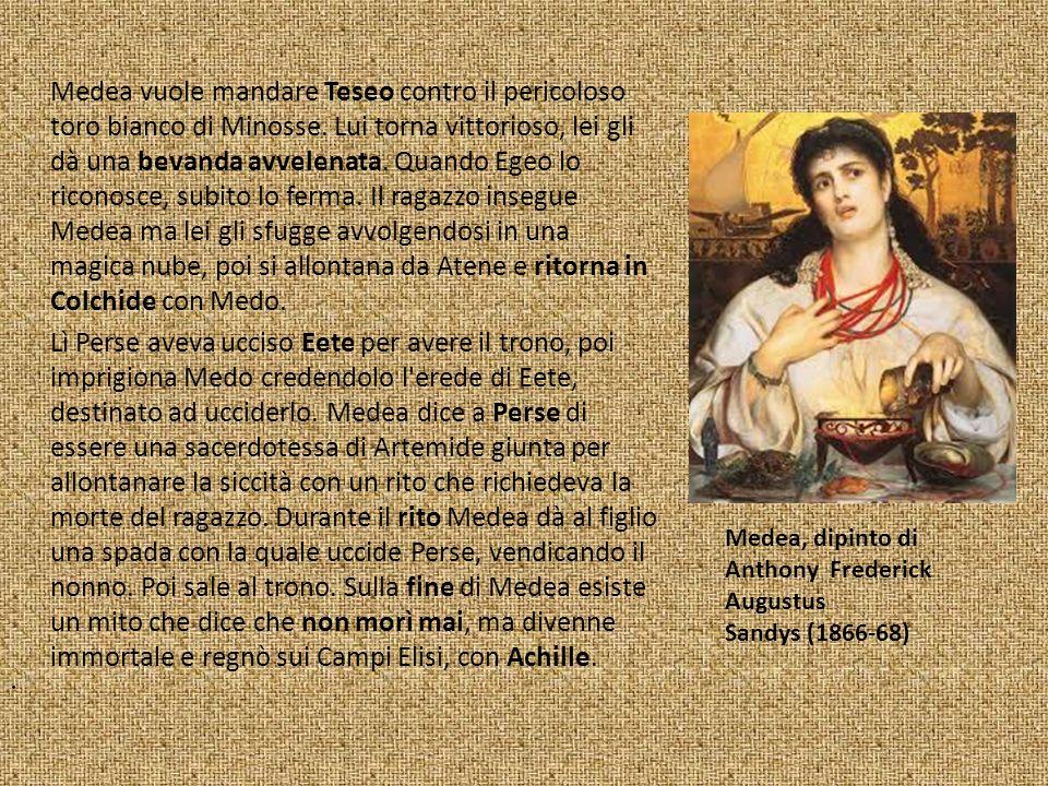 Medea vuole mandare Teseo contro il pericoloso toro bianco di Minosse.