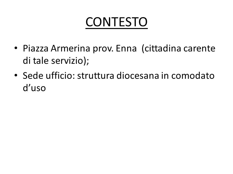 CONTESTO Piazza Armerina prov.
