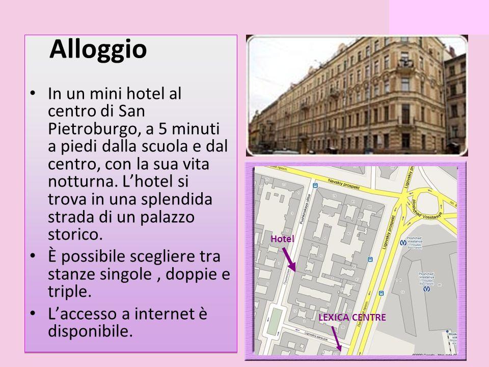 Alloggio In un mini hotel al centro di San Pietroburgo, a 5 minuti a piedi dalla scuola e dal centro, con la sua vita notturna.