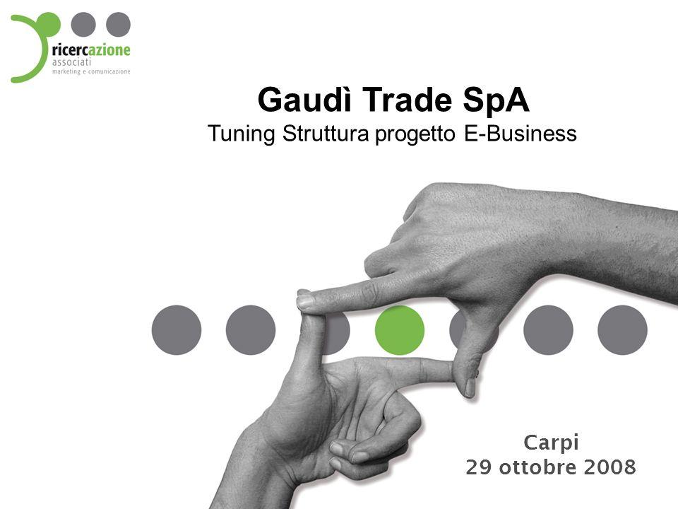 Gaudì Trade SpA Tuning Struttura progetto E-Business Carpi 29 ottobre 2008