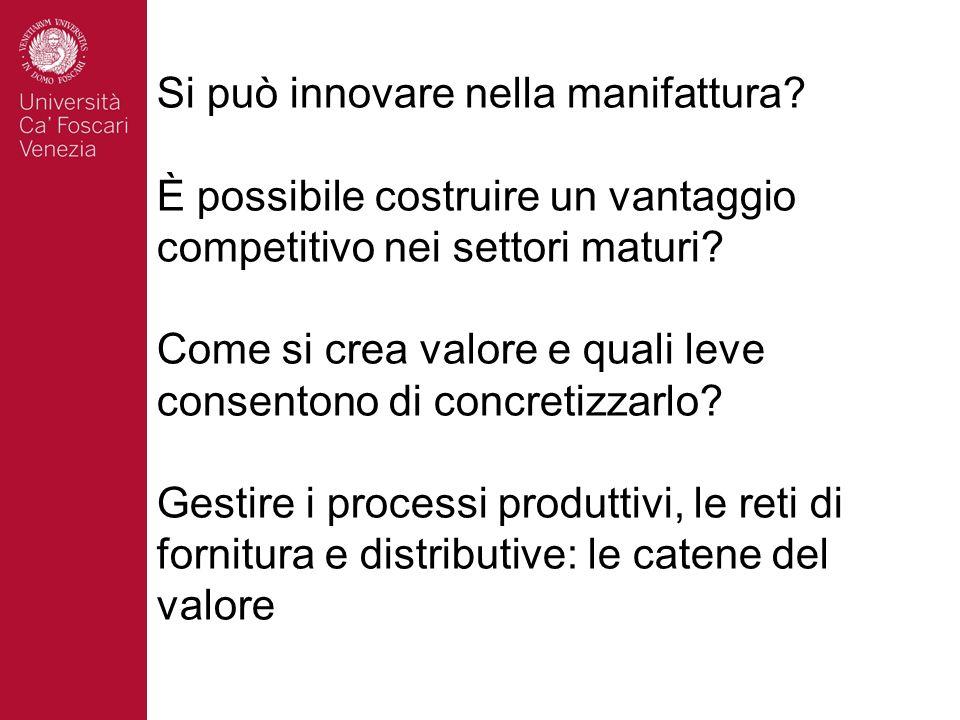Si può innovare nella manifattura.