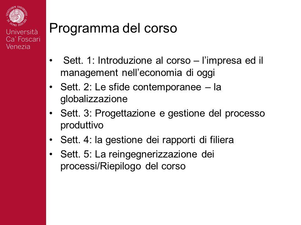 Programma del corso Sett.
