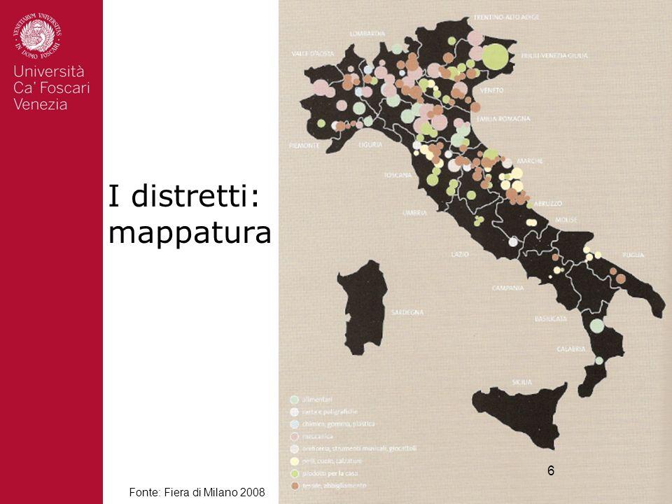 I distretti: mappatura 6 Fonte: Fiera di Milano 2008 6