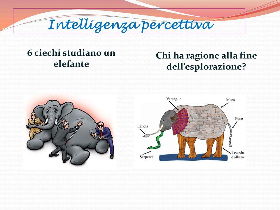 Intelligenza percettiva 6 ciechi studiano un elefante Chi ha ragione alla fine dellesplorazione?