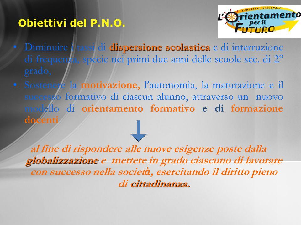 Obiettivi del P.N.O.