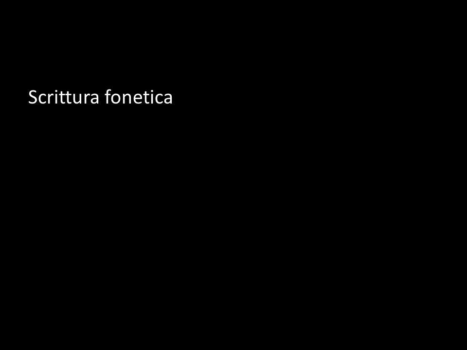 Scrittura fonetica