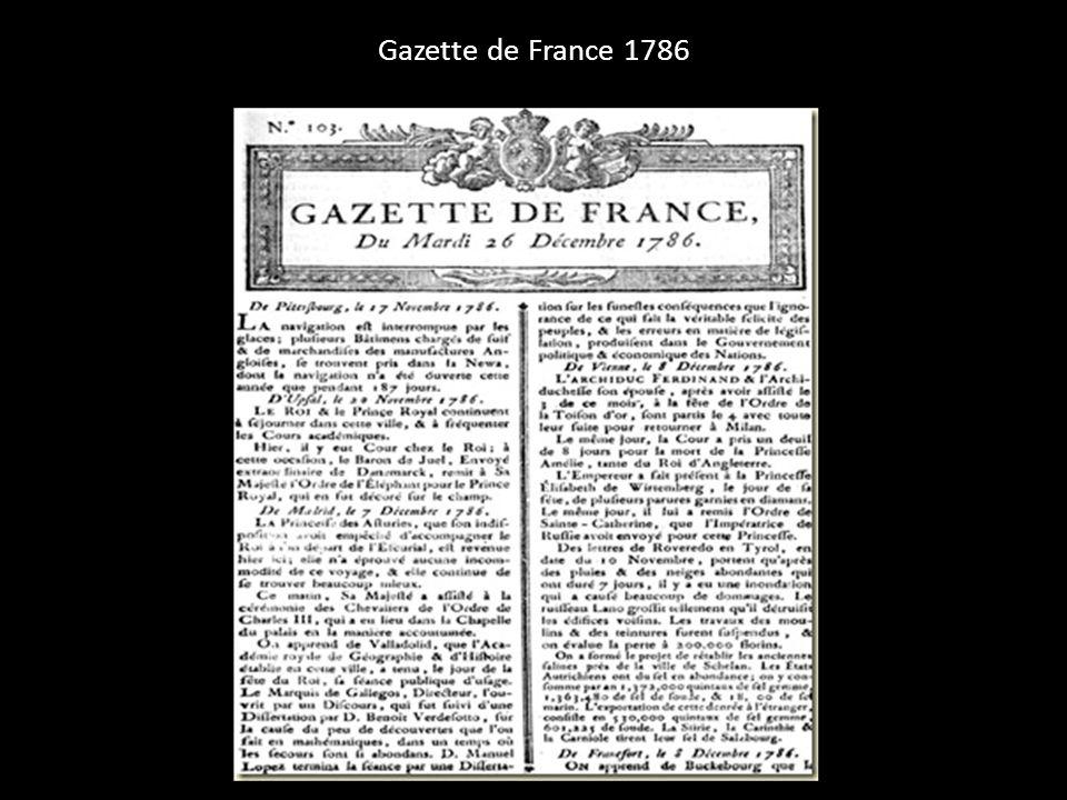 Gazette de France 1786