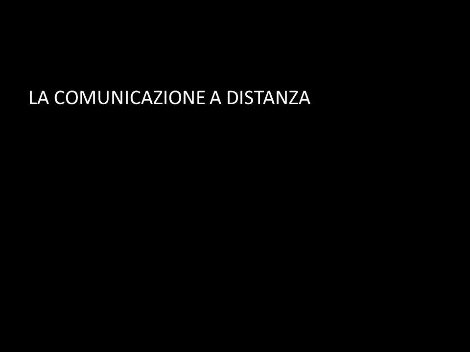 LA COMUNICAZIONE A DISTANZA