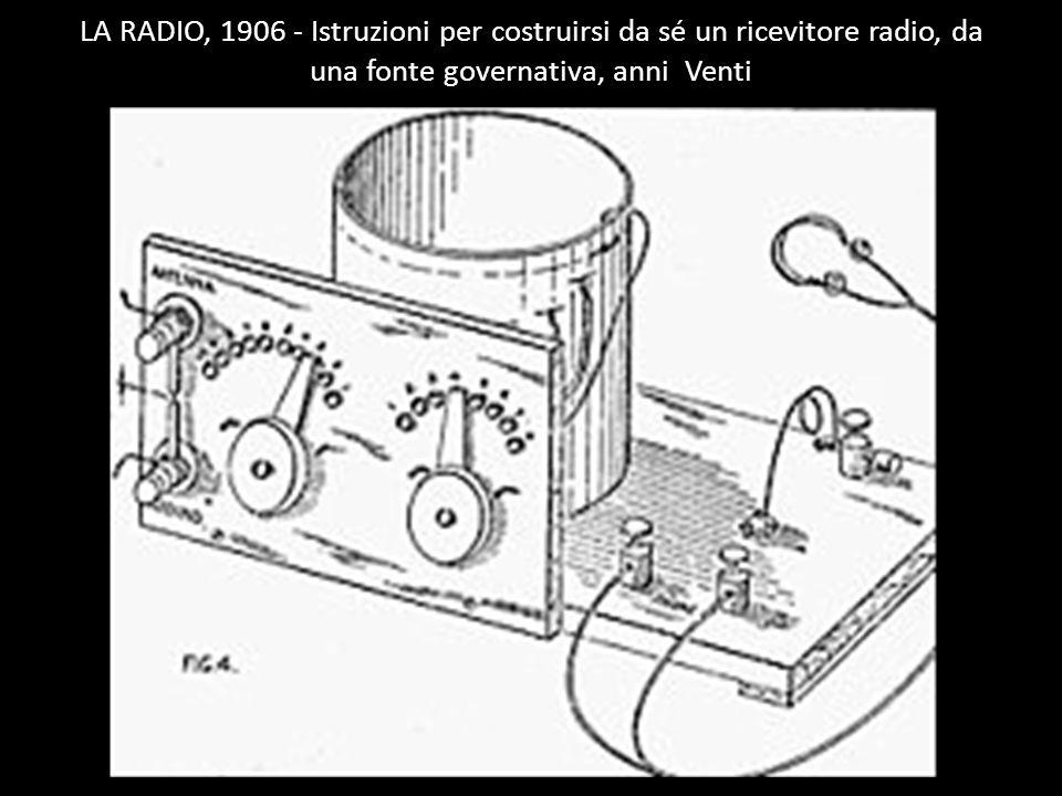 LA RADIO, 1906 - Istruzioni per costruirsi da sé un ricevitore radio, da una fonte governativa, anni Venti https://www.google.c om/search?client=firef