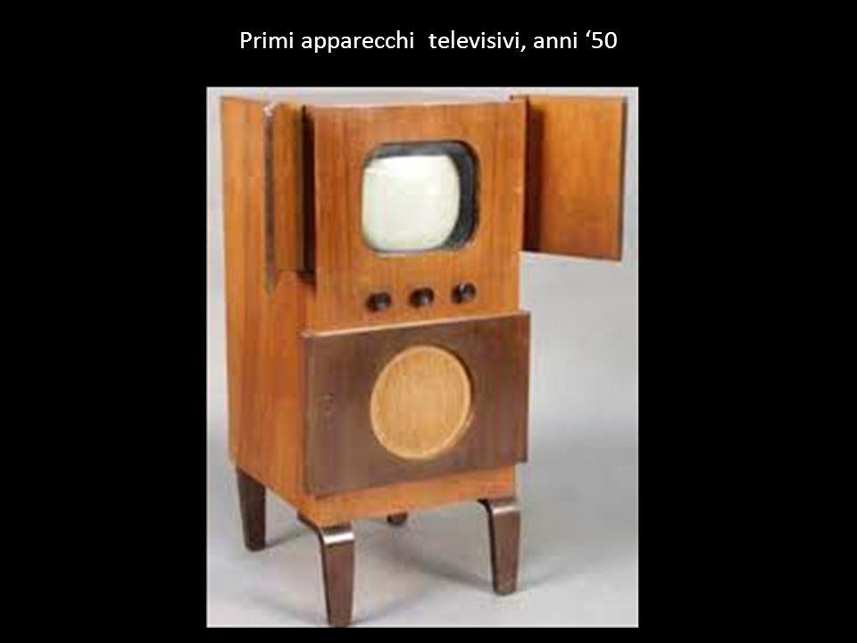 Primi apparecchi televisivi, anni 50