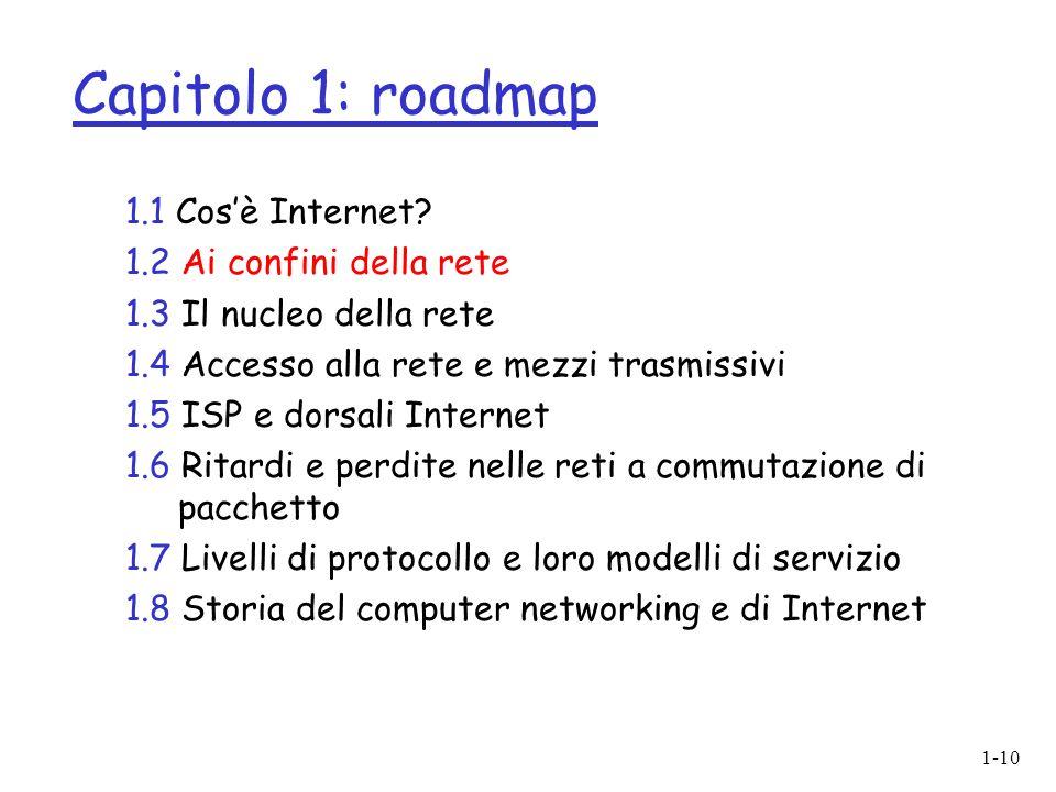 1-10 Capitolo 1: roadmap 1.1 Cosè Internet.
