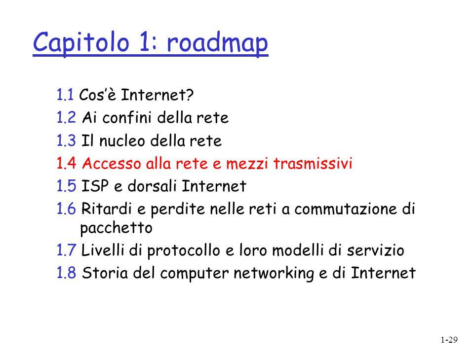 1-29 Capitolo 1: roadmap 1.1 Cosè Internet.