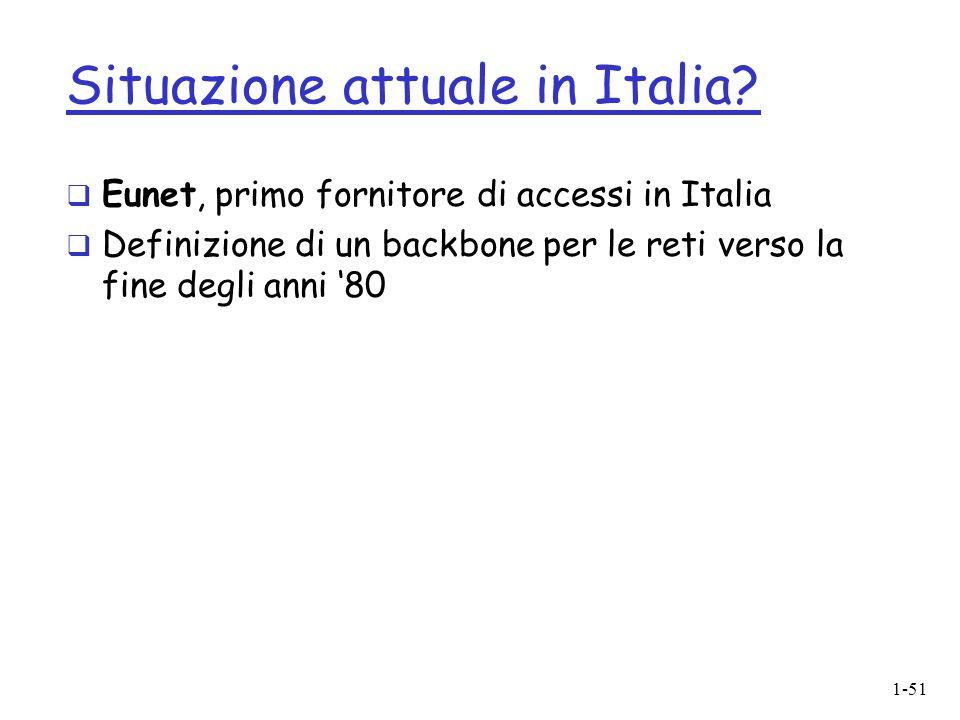1-51 Situazione attuale in Italia.