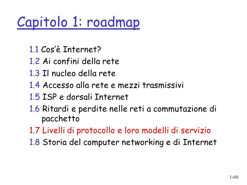 1-66 Capitolo 1: roadmap 1.1 Cosè Internet.