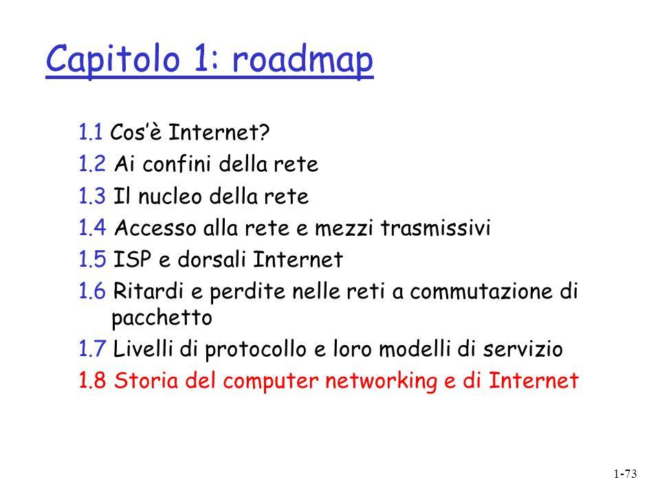 1-73 Capitolo 1: roadmap 1.1 Cosè Internet.
