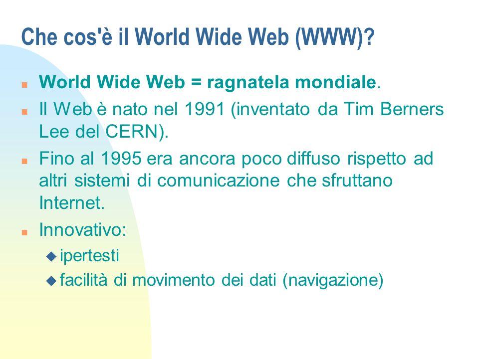 Esempi di oggetti disponibili sul Web n Ipertesti.