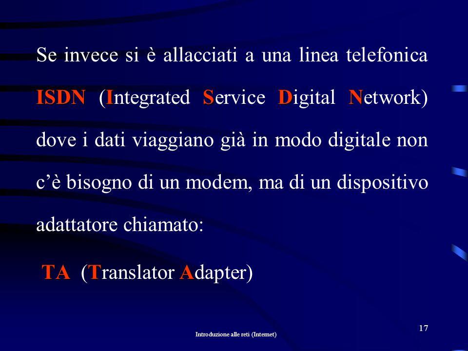 Introduzione alle reti (Internet) 16
