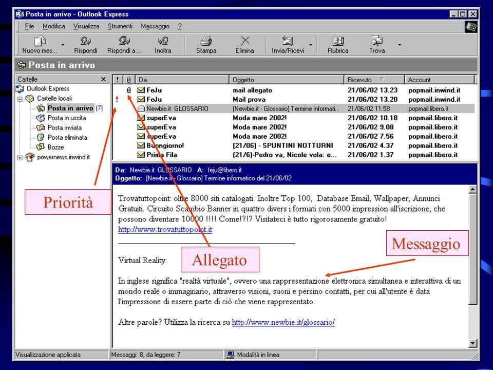 Introduzione alle reti (Internet) 33 POP account E-Mainomeutente Per configurare i programmi di posta elettronica per la gestione della casella, è necessario disporre del cosiddetto POP account, ossia un particolare indirizzo di E-Mail in cui il nomeutente è proprio quello a cui è intestata la casella.