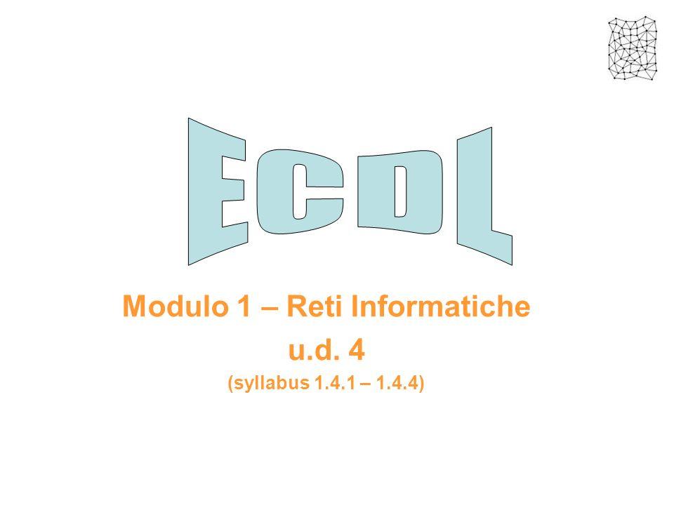 Modulo 1 – Reti Informatiche u.d. 4 (syllabus 1.4.1 – 1.4.4)