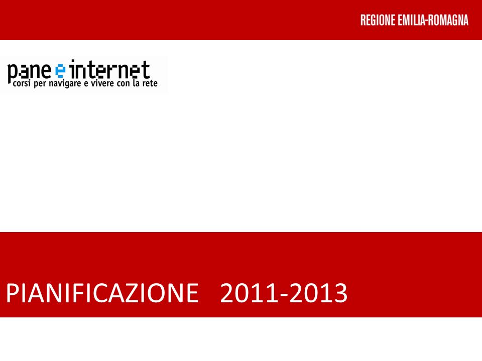 PIANIFICAZIONE 2011-2013