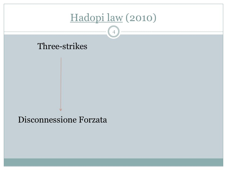Hadopi law (2010) Three-strikes Disconnessione Forzata 4