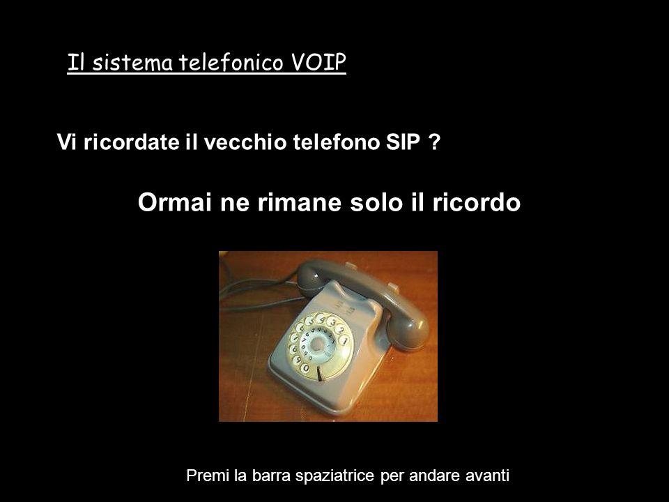 Il sistema telefonico VOIP Siamo ormai abituati a pensare che la nostra numerazione telefonica è sul cavetto, che la brava MAMMA TELECOM, a suo tempo ci portò.
