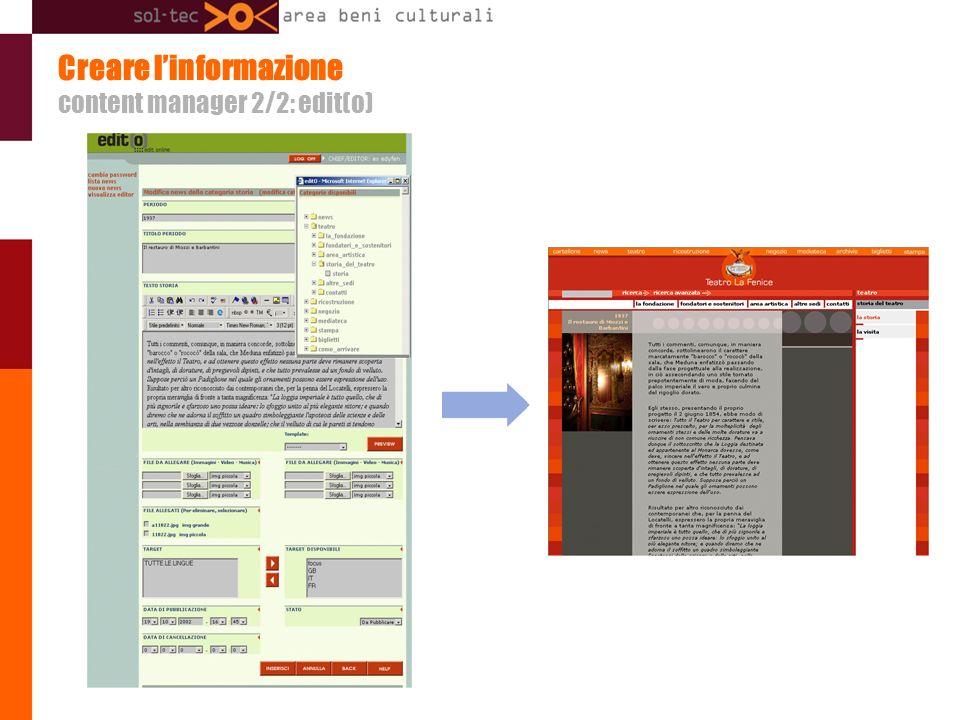 Creare linformazione content manager 2/2: edit(o)