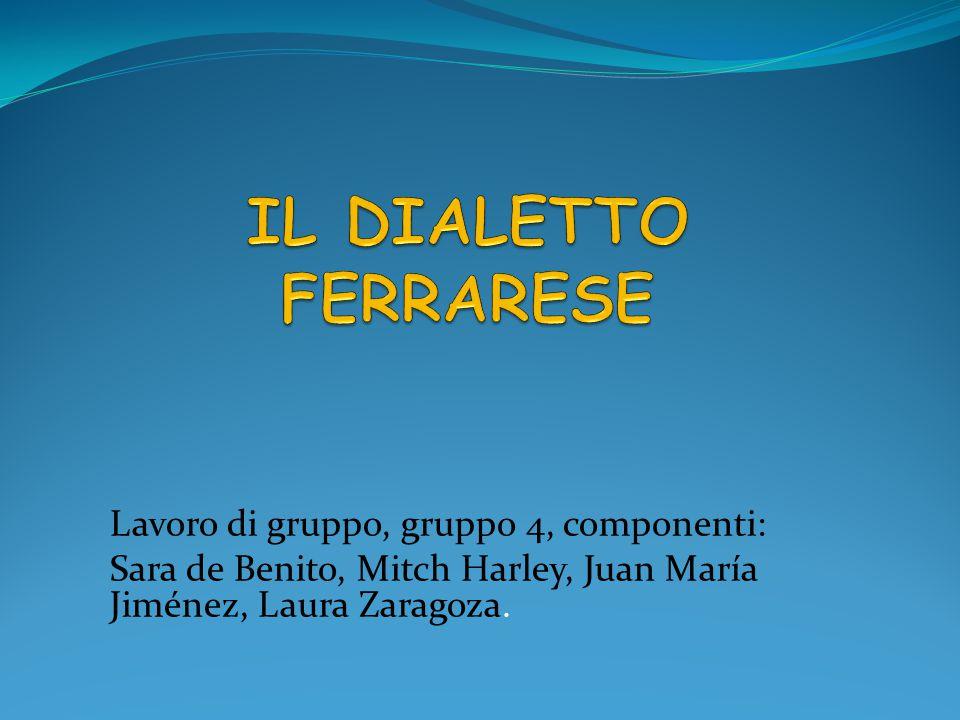 Lavoro di gruppo, gruppo 4, componenti: Sara de Benito, Mitch Harley, Juan María Jiménez, Laura Zaragoza.