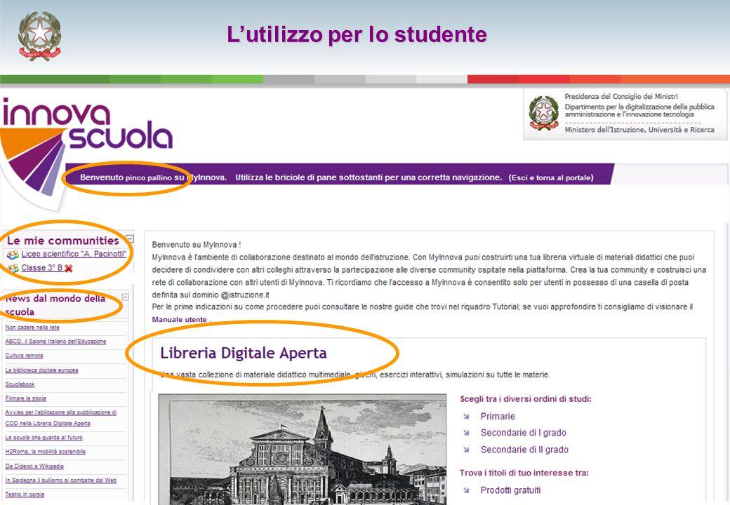 23 L'utilizzo per lo studente