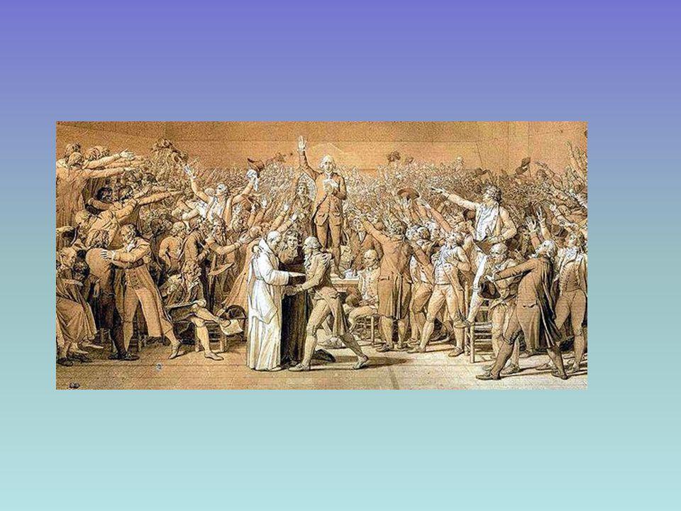 Azioni contraddittorie di LUIGI XIV e primo intervento del popolo Riconosce l'Assemblea EMIGRAZIONI DEI NOBILI Richiama 2000 soldati a Versailles PRESA DELLA BASTIGLIA (14 luglio 1789) GUARDIA NAZIONALE La Fayette