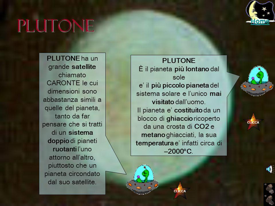 Nettuno NETTUNO Ha un' atmosfera composta soprattutto da metano che gli conferisce il suo colore azzurro. Presenta bande parallele all'equatore e una