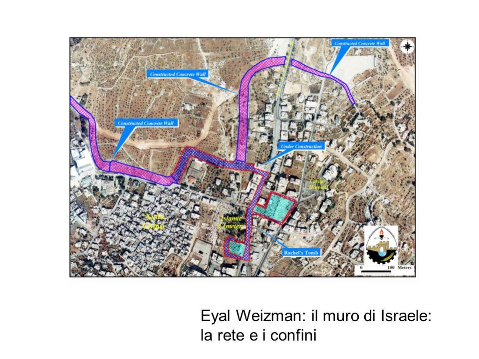 Eyal Weizman: il muro di Israele: la rete e i confini