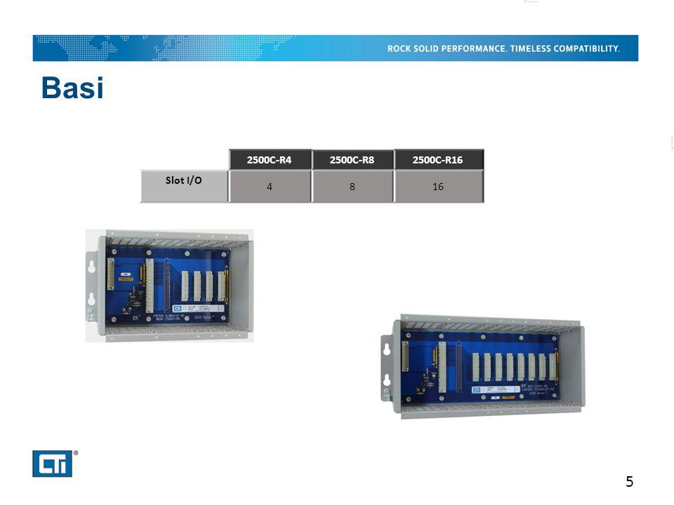 Basi 5 2500C-R42500C-R82500C-R16 Slot I/O 4816