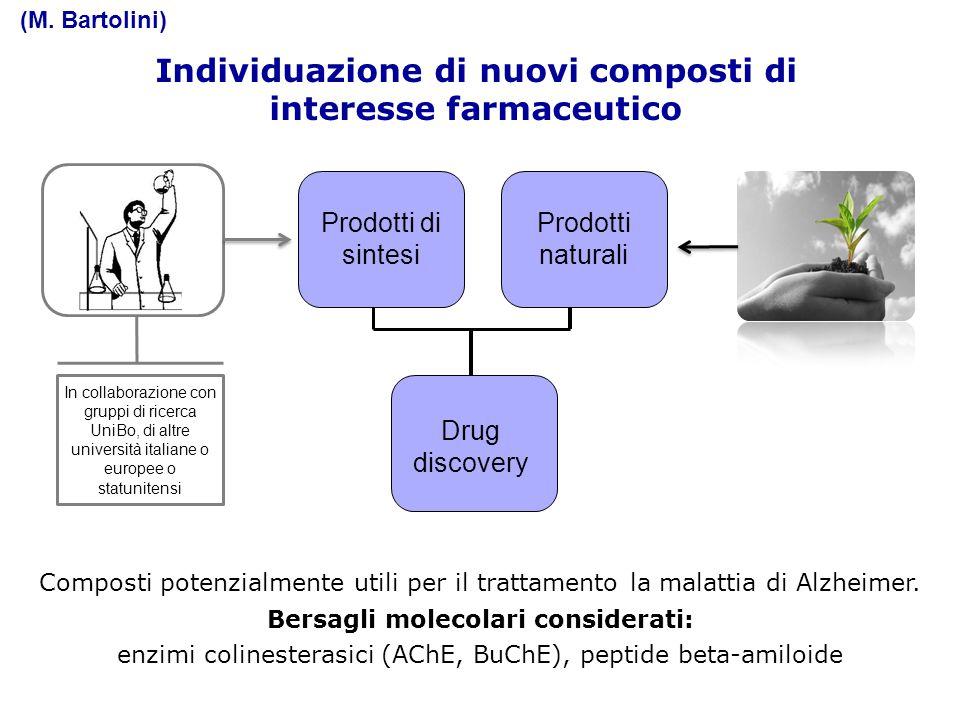 Scopo della Tesi Individuazione di nuovi composti di interesse farmaceutico Drug discovery Prodotti naturali Prodotti di sintesi Composti potenzialmen