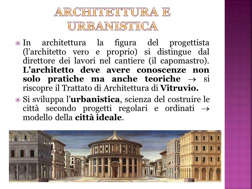  In architettura la figura del progettista (l'architetto vero e proprio) si distingue dal direttore dei lavori nel cantiere (il capomastro). L'archit