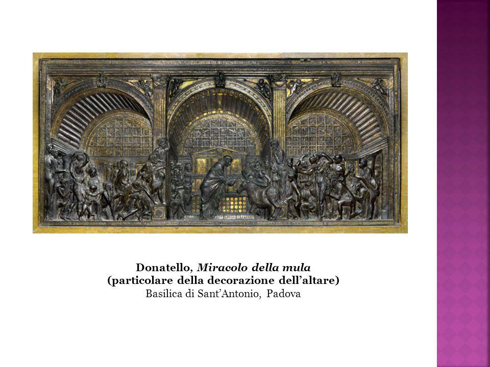 Donatello, Miracolo della mula (particolare della decorazione dell'altare) Basilica di Sant'Antonio, Padova