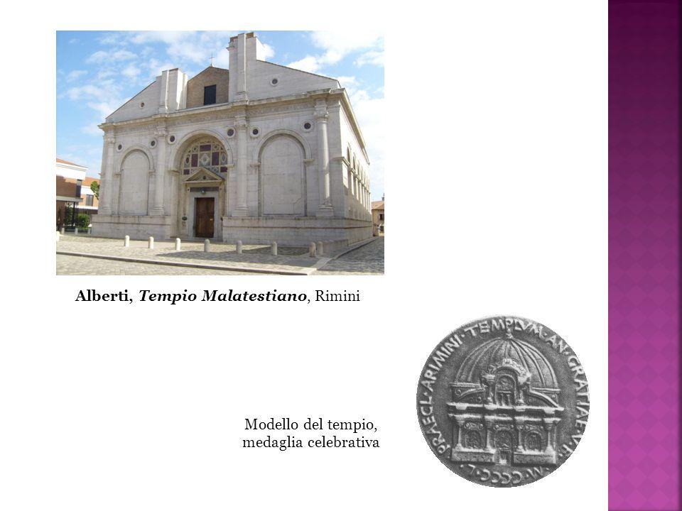 Alberti, Tempio Malatestiano, Rimini Modello del tempio, medaglia celebrativa