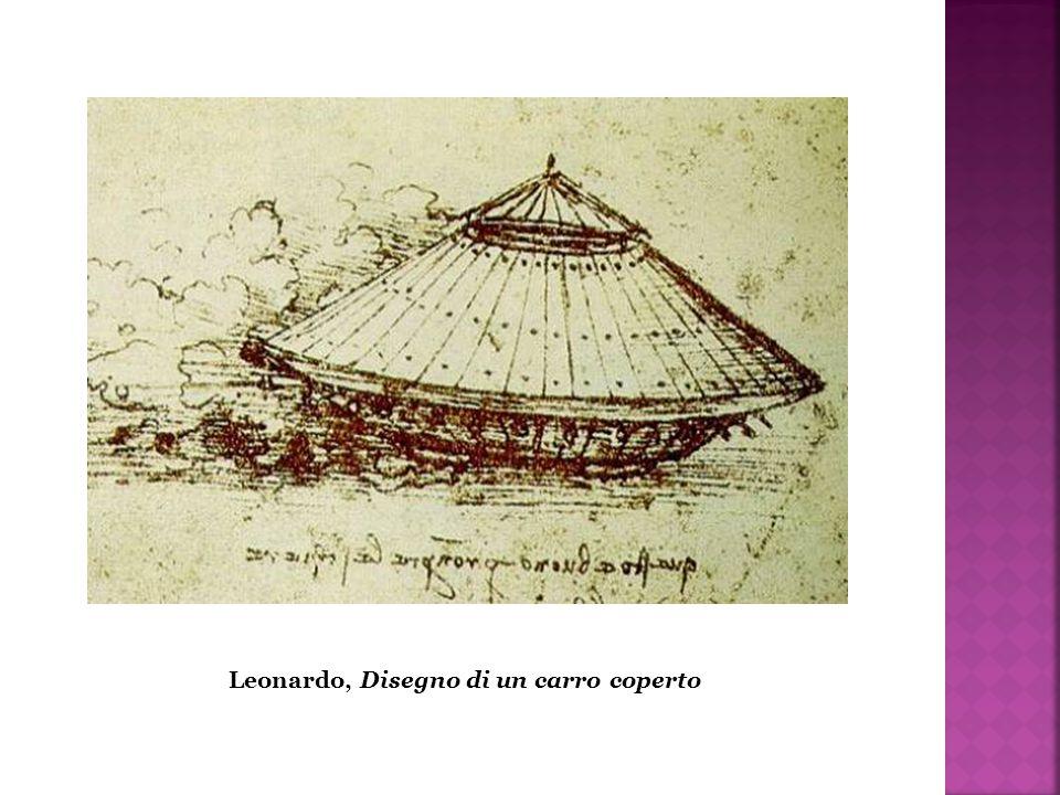Leonardo, Disegno di un carro coperto