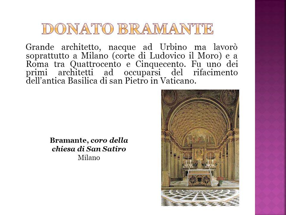Grande architetto, nacque ad Urbino ma lavorò soprattutto a Milano (corte di Ludovico il Moro) e a Roma tra Quattrocento e Cinquecento. Fu uno dei pri
